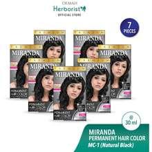 Miranda Miranda Hair Color Cat Rambut Permanen Natural Black 30ml Paket 7 Pcs