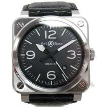 Bell&Ross Bell & Ross Aviation Watch Men'S Br03-92 Automatic Black Ss Leather