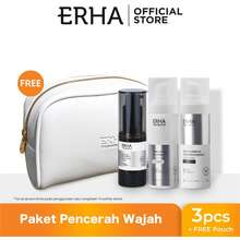 Erha Bundling Truwhite Brightening Series + White Pouch - Paket Serum & Krim Pemutih Wajah