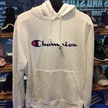 Champion hoodie champion script white