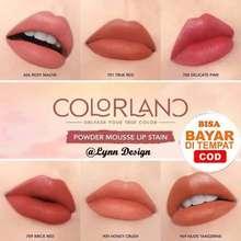 Y.O.U Colorland - Powder Mousse Lip Stain Lipstik [Formula Tahan Lama hingga 8 Jam] (Brick Red)