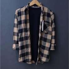 Hurley Pakaian Pria ❤️ Kemeja Flannel Lengan Panjang Pria Dan Wanita