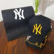 MLB TOPI CAP NEW YORK YANKEES NYK HAT baseball CAP gold logo emas topi keren