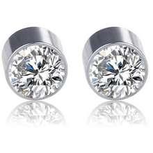 Magnet Anting Model Berlian Motif Berlian 9Mm Putih