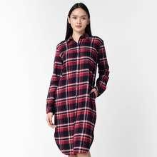 BENHILL Benhill Kemeja Tunik Flannel Wanita Kotak Merah 202-11435