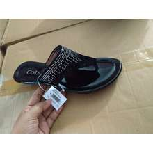 Calbi sandal jepit teplek wanita merk TQS1618 (EU:37, Hitam)