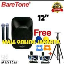 BareTone Speaker Aktif 12 Inch Portable Bluetooth Speker Aktive Portabel Amplifier Mic Wireless