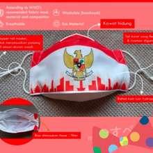 Bagus Masker Indonesia 3Ply Edisi Merdeka Merah Putih Cewe Cowo Murah Db 12