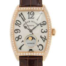 Franck Muller Geneve Moonphase Automatic Diamond White Dial Ladies Watch 2850SCATFOLD(5N)