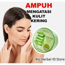 Bio Herbal Pelembab Wajah Bibir Kulit Kering Aloe Vera Gel Lidah Buaya Original B7A