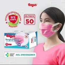 Bagus Bagus Surgical Mask Pink 50 Pcs