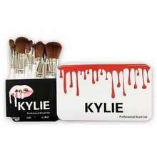 Kylie Cosmetics [Cod] 12Pcs Kylie Usa Kuas Make Up Brush Set Lengkap + Kaleng L Bulu Lembut Tahan Lama Gagang Kokoh