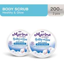 Marina Uv White Healthy & Glow Body Scrub [2 Pcs]