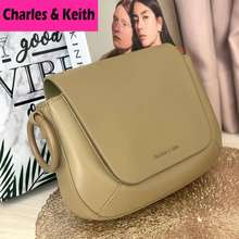 Charles & Keith Tas Shoulder Bag Wanita Import, Shoulder Bag Original / Cnk