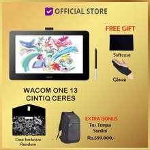 Wacom One Display Cintiq Ceres 13 Pen Display Full Hd Dtc 133 Dtc133 Paketbonus Tas