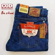LEA Celana Jeans Lengan Panjang Pria 28 33 Biru Tua 33