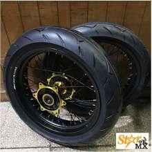 Wilwood Wheel Set Supermoto 1717 Lebar 350 300 Hole 36 Crf 150 L Gold Merk Willwood