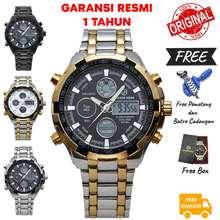 Golden Hour (Free Pemotong) Jam Tangan Pria Murah Goldenhour 108 Original Rantai Waterproof Design Mewah & Exclusive