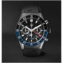 TAG Heuer Carrera GMT Automatic Chronograph 45mm Stainless Steel and Rubber Watch, Ref. No. CBG2A1Z.FT6157 Men Black