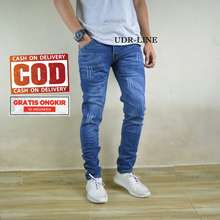 CELANA JEANS PRIA celana jeans soft jeans / celana levis soft jeans / celana slimfit soft jeans /celana skinny jeans soft jeans /celana soft jeans premium / celana soft jeans pria / celana soft jeans terlaris underline a - Indonesia Fashion Store (Pinggang:27, Dark blue SobekClaw)
