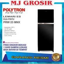 Polytron KULKAS POLYTRON PRW 23 MNX LEMARI ES 2 PINTU PRW 23 MNX TEMPERED GLASS