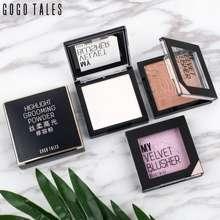 gogo Tales Professinal 6 Warna Bronzer Highlighter Palette Makeup Glow