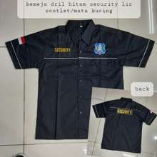 Seragam Kaos Security Baju Security Satpam Kemejahitam Xxl