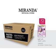Miranda Hair Color (Cat Rambut Permanen) Pastel Series Mcp1 Taro Latte 30Ml (Paket 72 Pcs)