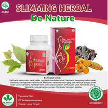 Herbal Slimming Pembasmi Perut Buncit Pelangsing Detox Penurun Berat Badan De Nature