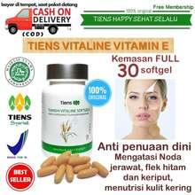 Tiens Vitamin E organik anti penuaan dini / untuk wajah awet muda / anti aging herbal alami / manjur aman dan halal / penghilang flek hitam n keriput / Suplemen terbaik untuk nutrisi kulitmata dan saraf - Vitaline isi 30Softgel + free membership THSS (A)