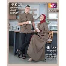 Nibra's BAJU SARIMBIT KELUARGA NIBRAS COUPLE 88 BROWN
