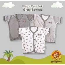 Fluffy Gorillux 3 Pcs Baju Pendek Bayi Piyama Baby Newborn Kado Bayi