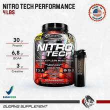Muscle Tech Nitrotech 4 Lbs Nitrotech Performance Whey Protein Strawberry