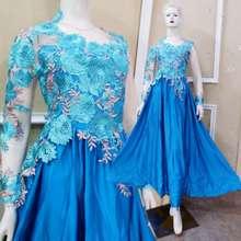 Butik my kebaya Dress Pesta Gamis Lace Premium Baju Kondangan Lamaran Modern Muslim