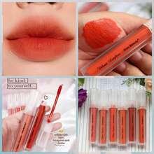 Kiss Beauty [6PCS/ SATUAN] - COD / Lipcream Matte Nude / Orange Lipstick/ Orange Lipcream/ Grosir Kosmetik
