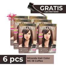 Miranda Paket Coffee Isi 6 / Coffee / Coklat Gelap isi 6 / Semir Rambut Coffee Color 30ml