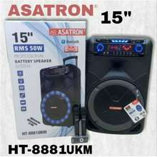 Asatron speaker aktif Bluetooth 15 inch Original meeting wireless speaker