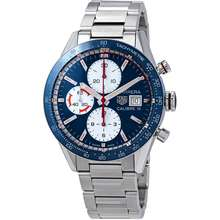 TAG Heuer Carrera Automatic Chronograph Blue Dial Mens Watch CV201AR.BA0715