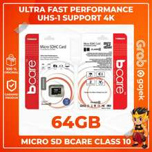 Bcare BCARE Micro SD Class 10 UHS-1 8GB / 16GB / 32GB / 64GB / 128GB 100Mbps - 64GB