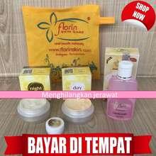 Florin Menghilangkan Flek di Wajah Menghilangkan Jerawat - Skincare Paket Normal Original Cream Siang Cream Malam Sabun Cair