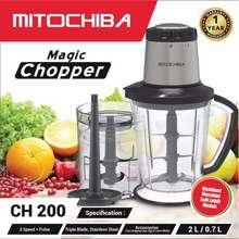 Mitochiba CH-200 / CH200 / CH 200 Magic Food Chopper (2 Liter) (DIJAMIN 100% ORI)