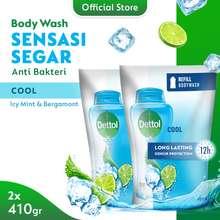 Dettol Cool 410 ml Refill Sabun Mandi Cair Anti Bakteri (2 pcs)