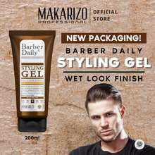 Makarizo Professional Barber Daily Wet Look Styling Gel 250 Gr