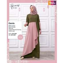 Nibra's Baju Gamis Nibras Lebaran 2021 Terbaru Dress Wanita Muslim Carina Army [Cod]