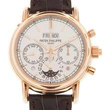 Patek Philippe Grand Complications Perpetual Chronograph Silver Dial Mens Watch 5204R 001