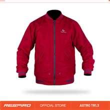Respiro Astro Jaket Motor Bomber Windproof Merah M
