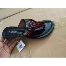 Calbi sandal jepit teplek wanita merk TQS1618 merah (EU:36)