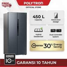 Polytron Kulkas POLYTRON New Belleza Inverter 2 pintu Side-by-side PRS 460B