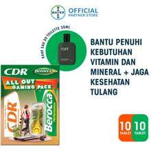 CDR All Out Gaming Pack 10 Tablet Berocca 10 Tablet Kahf Humbling