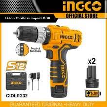 Ingco Bor Cordless Impact 12V Li-Ion Cidli-1232